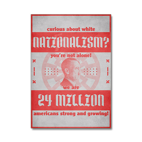 Nazi Propaganda Artwork Canvas Print - White Nationalism