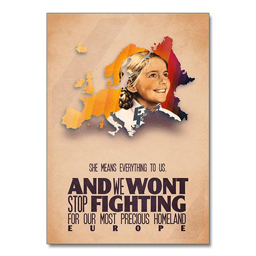 Nazi Propaganda Artwork Canvas Print - Wont Stop Fighting