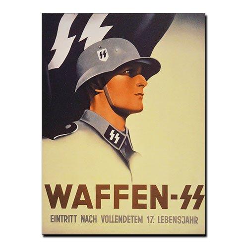Third Reich Canvas Print Waffen-SS - Eintritt Nach Vollendetem 17 Lebensjahr
