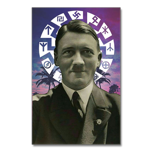 Canvas Print Adolf Hitler Black Sun Third Reich Theme Canvas