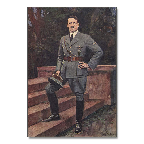 Canvas Print Full Length Portrait of Adolf Hitler