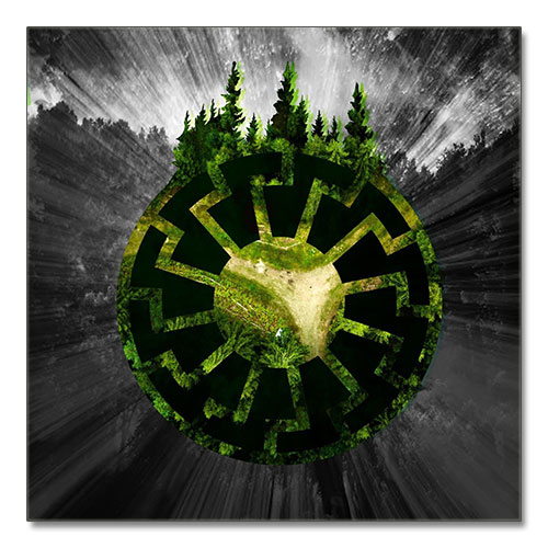 Canvas Print German Black Sun