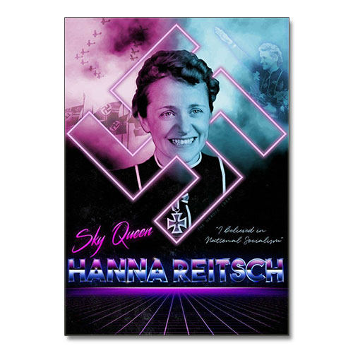 Canvas Print Hanna Reitsch Stylized Third Reich Theme Canvas