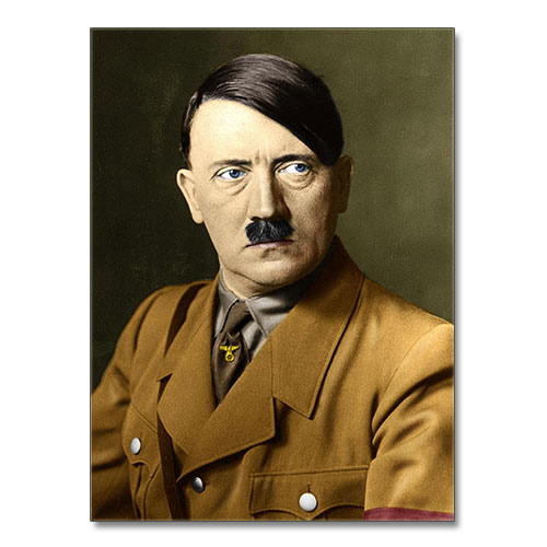 Canvas Print Portrait of Adolf Hitler
