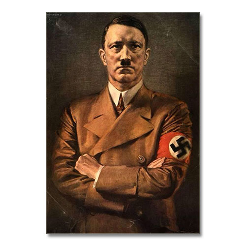 Canvas Print Portrait of Adolf Hitler - ah014