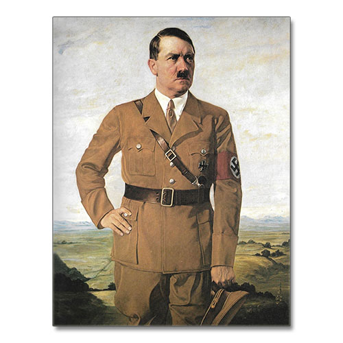 Canvas Print Portrait of Adolf Hitler - ah09