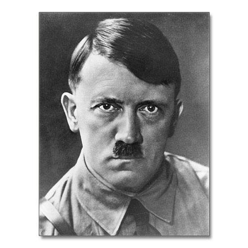 Canvas Print Portrait of Adolf Hitler Black and White 2