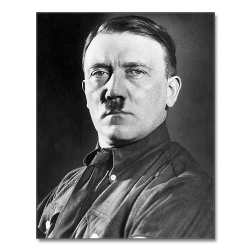 Canvas Print Portrait of Adolf Hitler Black and White