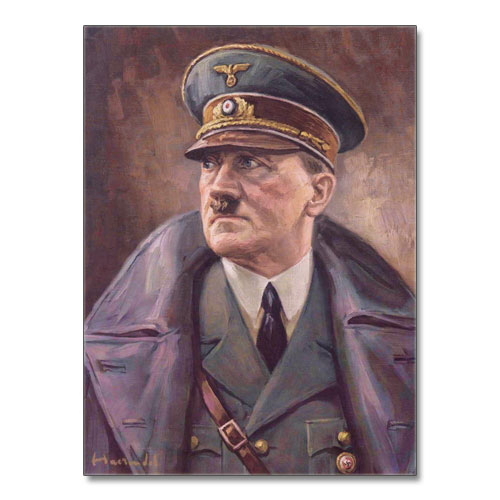 Canvas Print Portrait of Adolf Hitler in Uniform