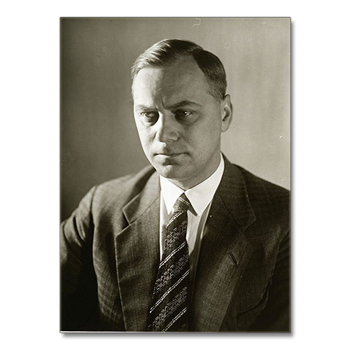 Canvas Print Portrait of Alfred Rosenberg