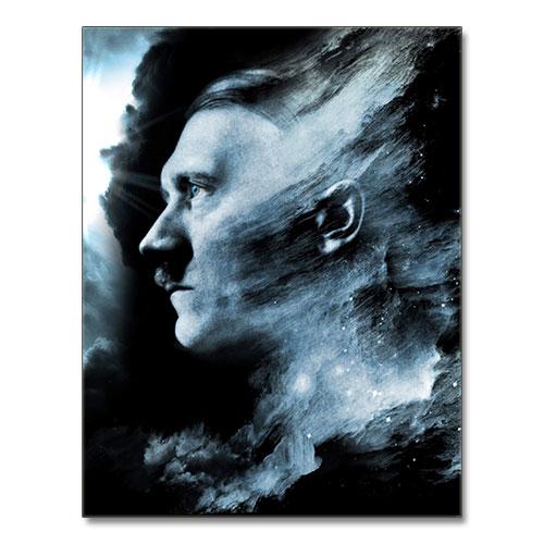 Canvas Print Stylized Third Reich Theme Adolf Hitler Canvas