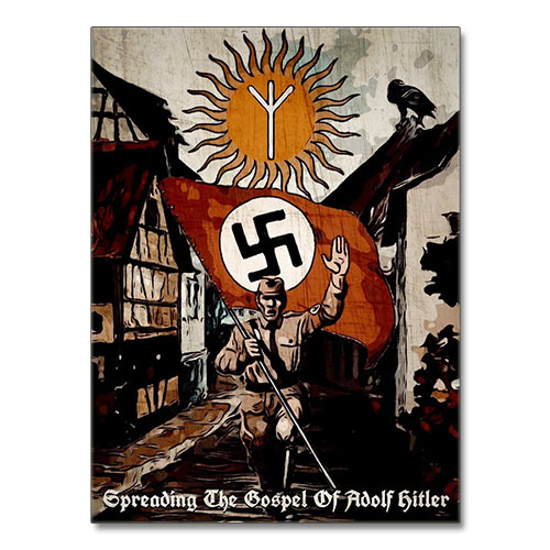 Canvas Print Stylized Third Reich Theme Canvas