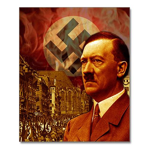 Canvas Print Third Reich Theme Adolf Hitler Stylized Canvas 1944