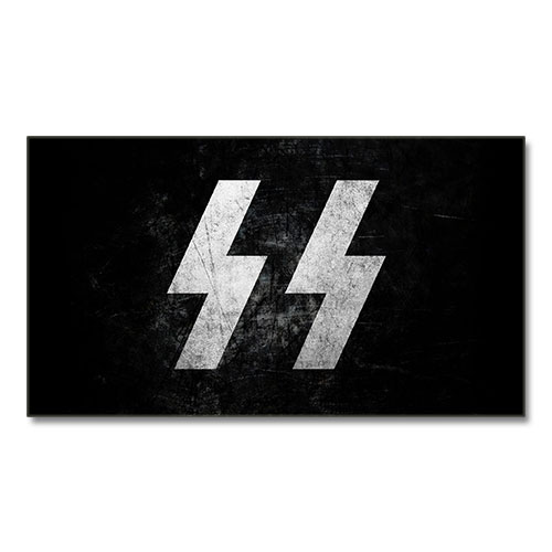 Canvas Print Third Reich Theme SS-Schutzstaffel Stylized Canvas