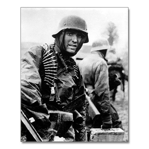 Canvas Print World War II German Soldier Ardennes 1944