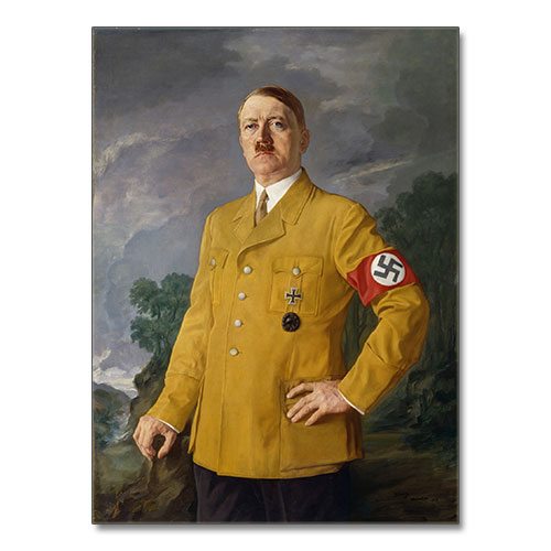 "Portrait of Adolf Hitler Heinrich Knirr ""Führerbildnis"" (1937) later copy Canvas"