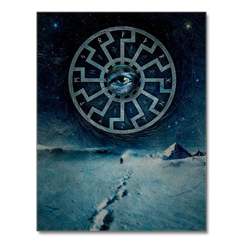 Third Reich Theme Canvas Print Black Sun, The Providence