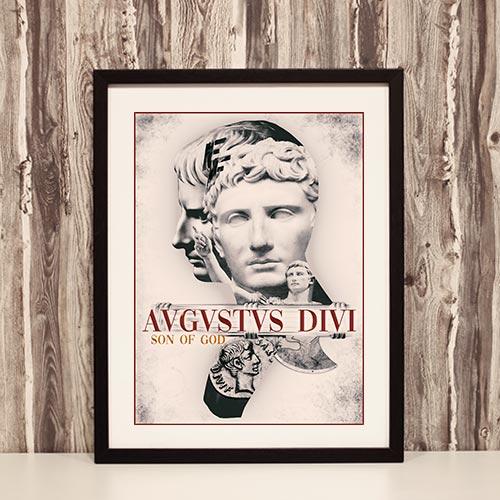 Nazi Propaganda Artwork Framed Poster - Augustus