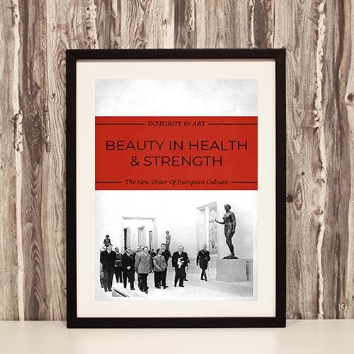 Nazi Propaganda Artwork Framed Poster - Beauty In Health