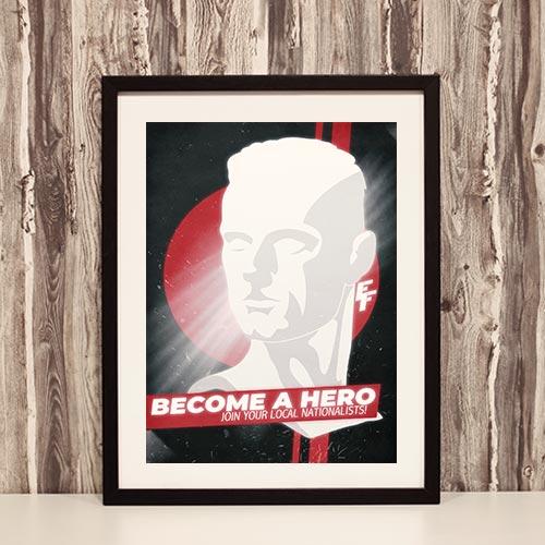 Nazi Propaganda Artwork Framed Poster - Become A Hero