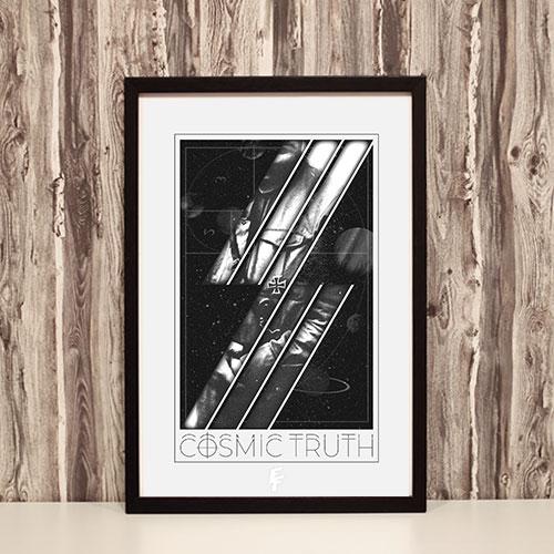 Nazi Propaganda Artwork Framed Poster - Cosmic Truth