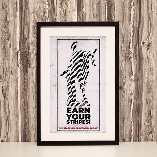 Nazi Propaganda Artwork Framed Poster - Earn Your Stripes