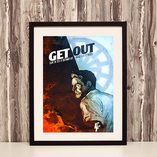 Nazi Propaganda Artwork Framed Poster - Get Out