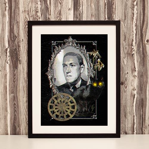 Nazi Propaganda Artwork Framed Poster - H. P. Lovecraft