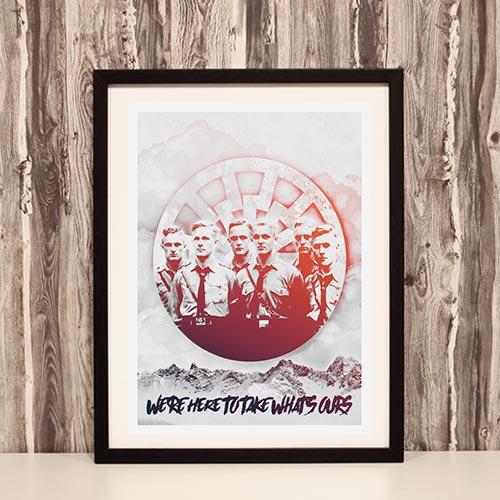 Nazi Propaganda Artwork Framed Poster - Ours 5