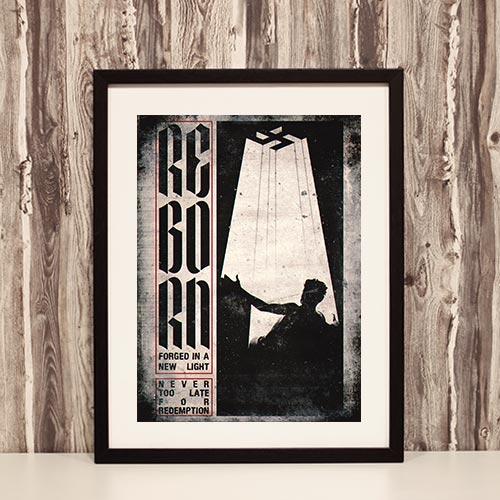 Nazi Propaganda Artwork Framed Poster - Reborn