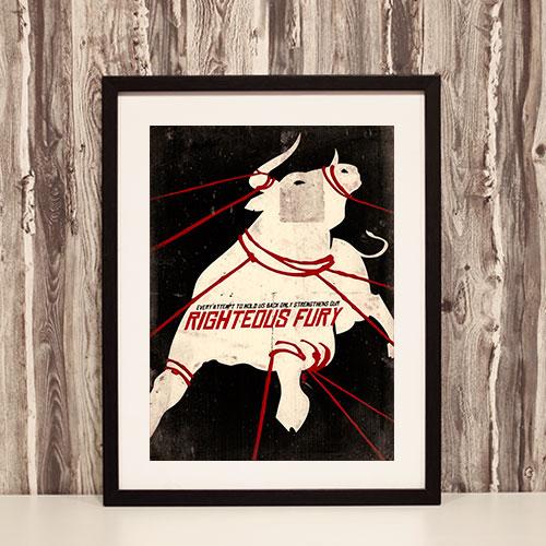Nazi Propaganda Artwork Framed Poster - Righteous Fury