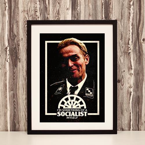 Nazi Propaganda Artwork Framed Poster - Socialist