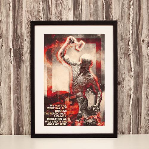Nazi Propaganda Artwork Framed Poster - The Heroic Ideal