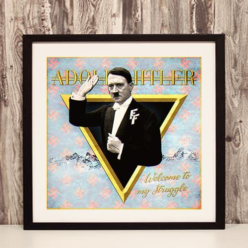 Nazi Propaganda Artwork Framed Poster - Welcome To My Struggle