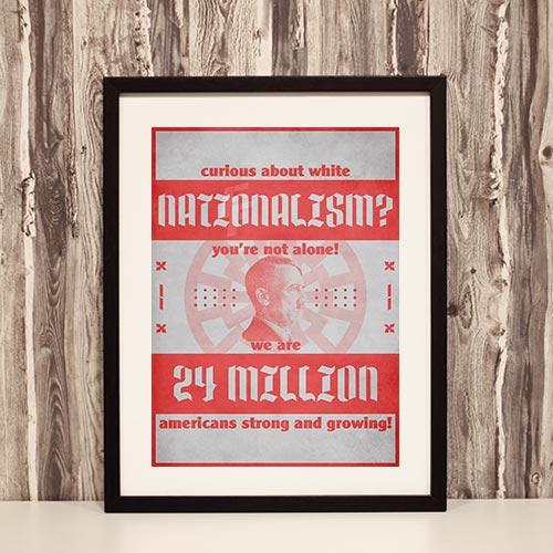 Nazi Propaganda Artwork Framed Poster - White Nationalism