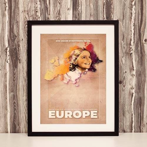 Nazi Propaganda Artwork Framed Poster - Wont Stop Fighting 21