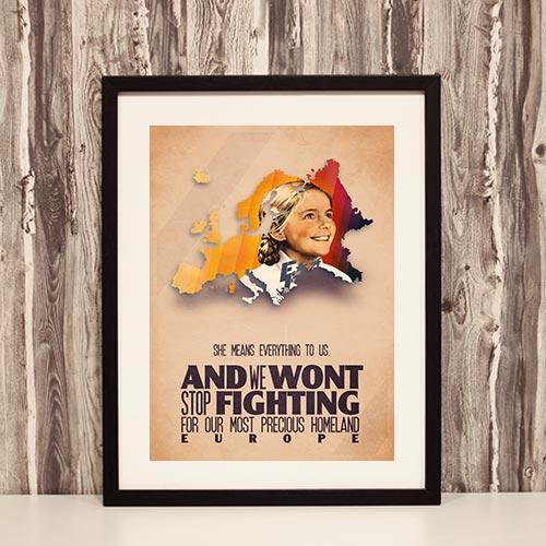 Nazi Propaganda Artwork Framed Poster - Wont Stop Fighting