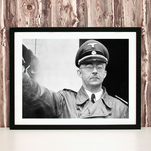 Framed Art Print Heinrich Himmler Third Reich Poster Black and White