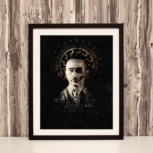 Framed Art Print Henrich Himmler Black Sun