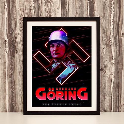 Framed Art Print Hermann Goering Stylized Third Reich Theme Framed Poster