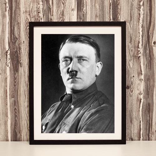 Framed Art Print Portrait of Adolf Hitler Black and White