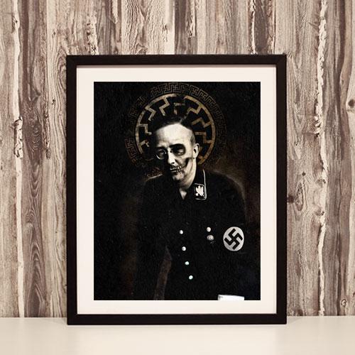 Framed Art Print Poster Heinrich Himmler Black Sun