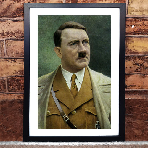 Framed Art Print Poster Portrait Of Adolf Hitler