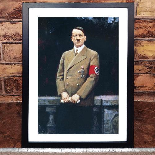 Framed Art Print Poster Portrait of Adolf Hitler - ah013