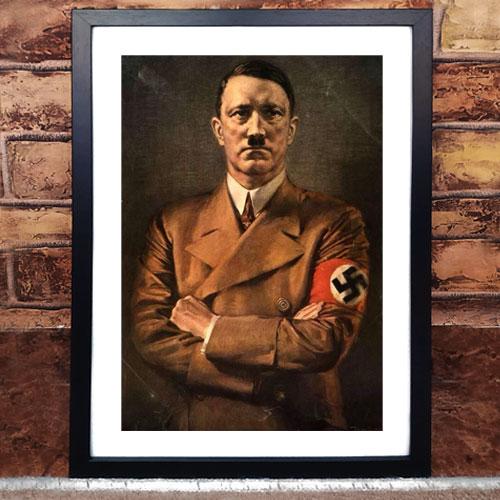 Framed Art Print Poster Portrait of Adolf Hitler - ah014