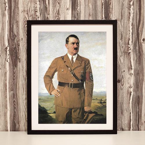 Framed Art Print Poster Portrait of Adolf Hitler - ah09