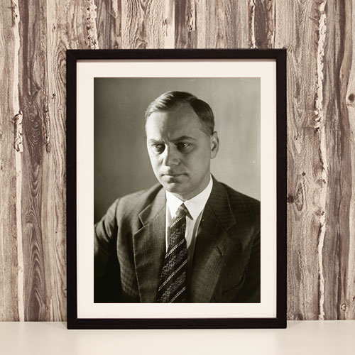 Framed Art Print Poster Portrait of Alfred Rosenberg