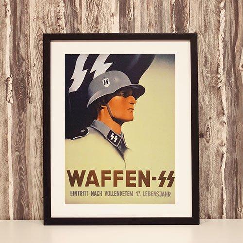 Framed Art Print Waffen-SS - Eintritt Nach Vollendetem 17 Lebensjahr