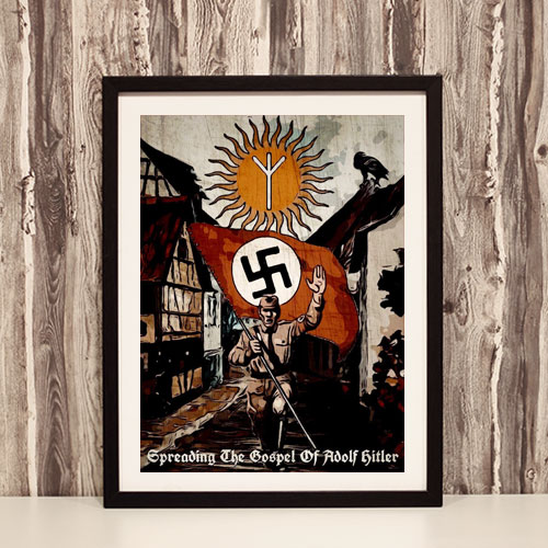Framed Art Print Stylized Third Reich Theme Framed Poster