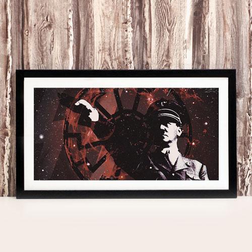Framed Art Print Third Reich German Black Sun